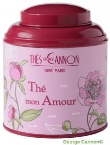 Thé Mon amour, fabrication spéciale Saint-Valentin de chez George Cannon