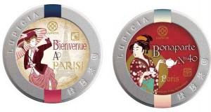 Lupicia : boîtes de thé Bienvenue à Paris et Bonaparte.