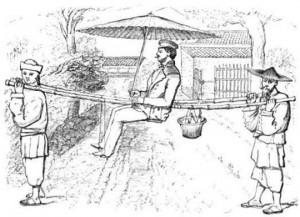 Illustration extraites de Voyages en Chine à la recherche des fleurs et du thé (1843 — 1850), de Robert Fortune, Hachette, Paris, 1855