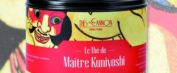 Le thé de Maître Kuniyoshi, de George Cannon. Mélange de thé vert sencha avec des arômes de coings et poires.
