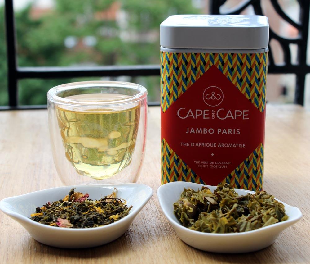 Thé Jambo Paris dans sa boîte, avant infusion