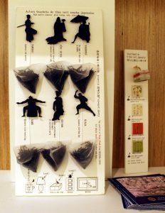 Sachets de thés japonais, recyclables dans la déco