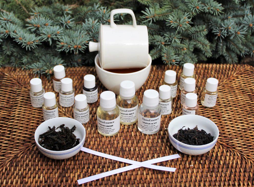 Senteurs et mouillettes pour apprendre à identifier les saveurs et arômes du thé.