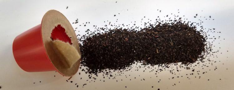Thé en vrac contenu dans la capsule