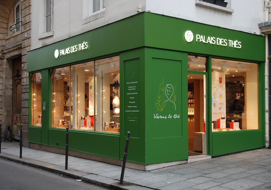 Boutique Palais des thés de la rue Vieille du Temple à Paris