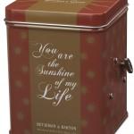 Boite à thé-musicale, Thé Amore, fabrication spéciale Saint-Valentin de Betjeman & Barton