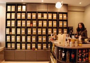 Intérieur de la boutique Thé rouge Café noir