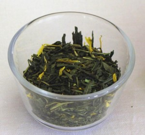 Mélange de thé Maitre Kuniyochi : thé vert sencha parfumé avec des arômes de poires et de coings