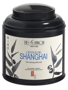 Le thé de l'école de Sangai de chez George Cannon est un oolong de Chine, avec des arômes et morceaux de goji, églantier, chrysanthème, agrumes, jujube, longane et nashi