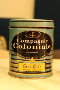 Boîte de thé Earl Grey de la Compagnie Coloniale de la fin du 20e siècle.