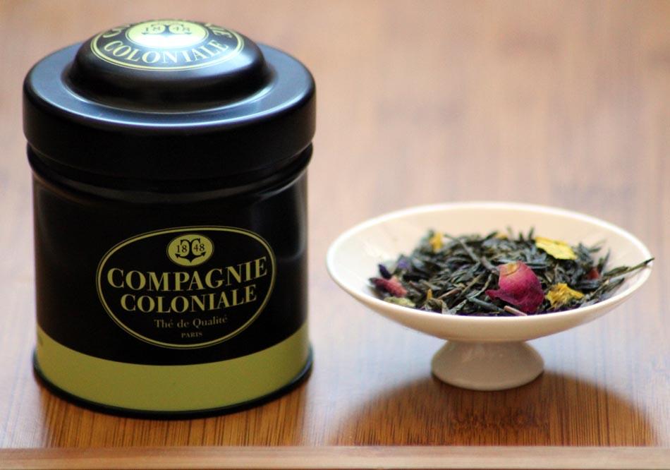 Thé sencha aromatisé aux fleurs