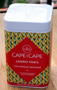 Boîte de thé Jambo Paris de chez Cape and Cape