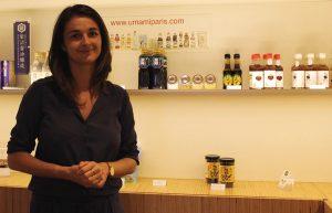 Laure Béguin dans l'Umami Matcha Café