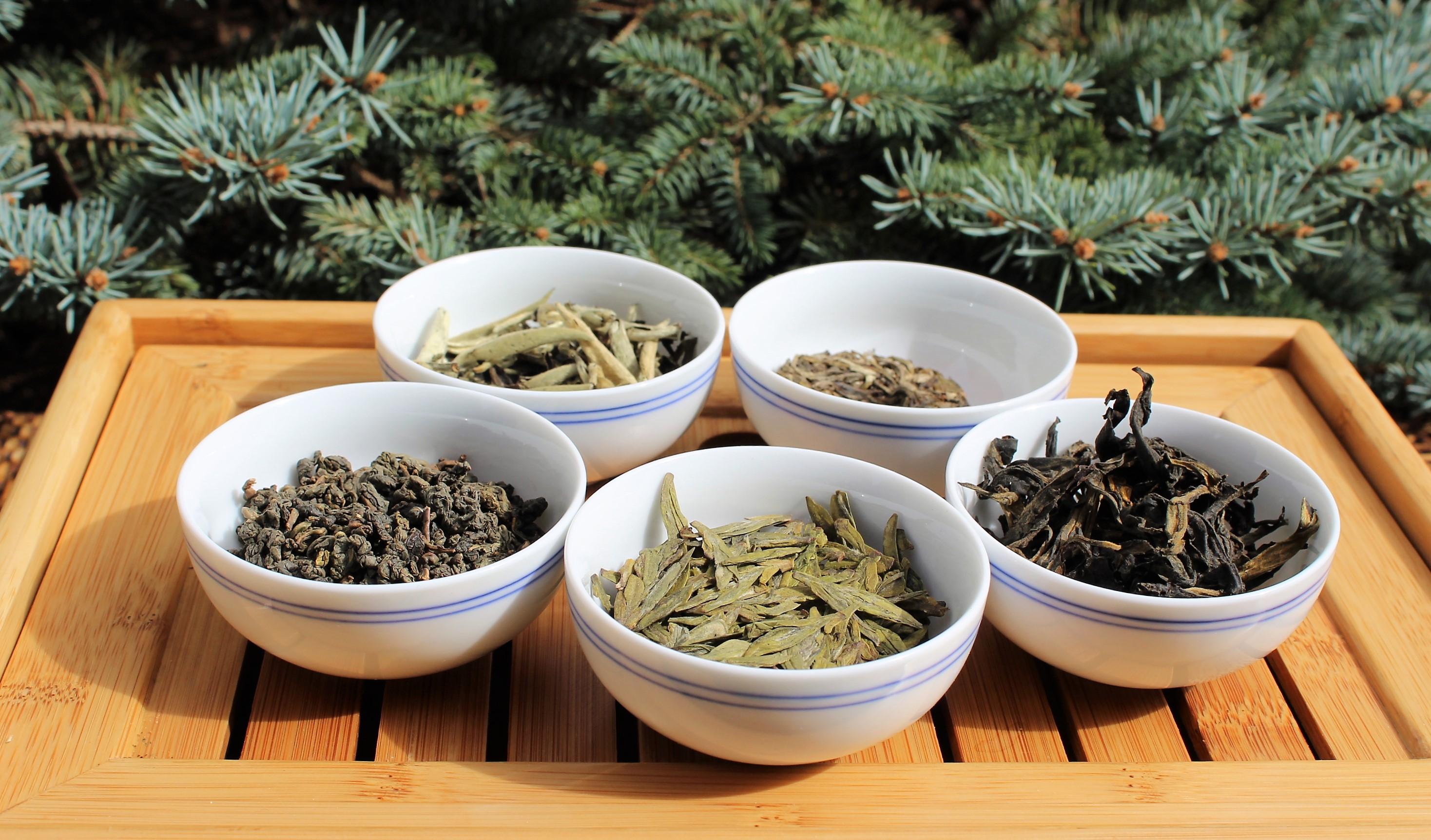 Les 5 couleurs du thé