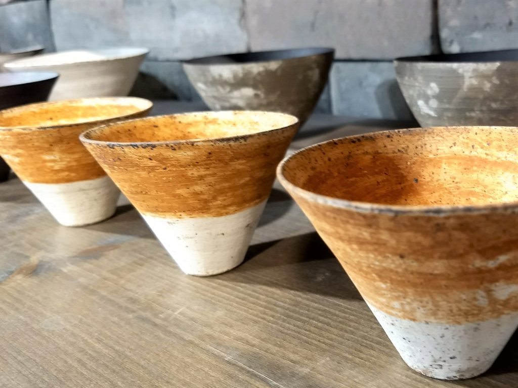 Photographie est céramiques de l'exposition-vente Utsawa, chez Muji au Forum des Halles de Paris